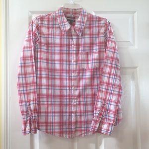 GAP plaid blouse
